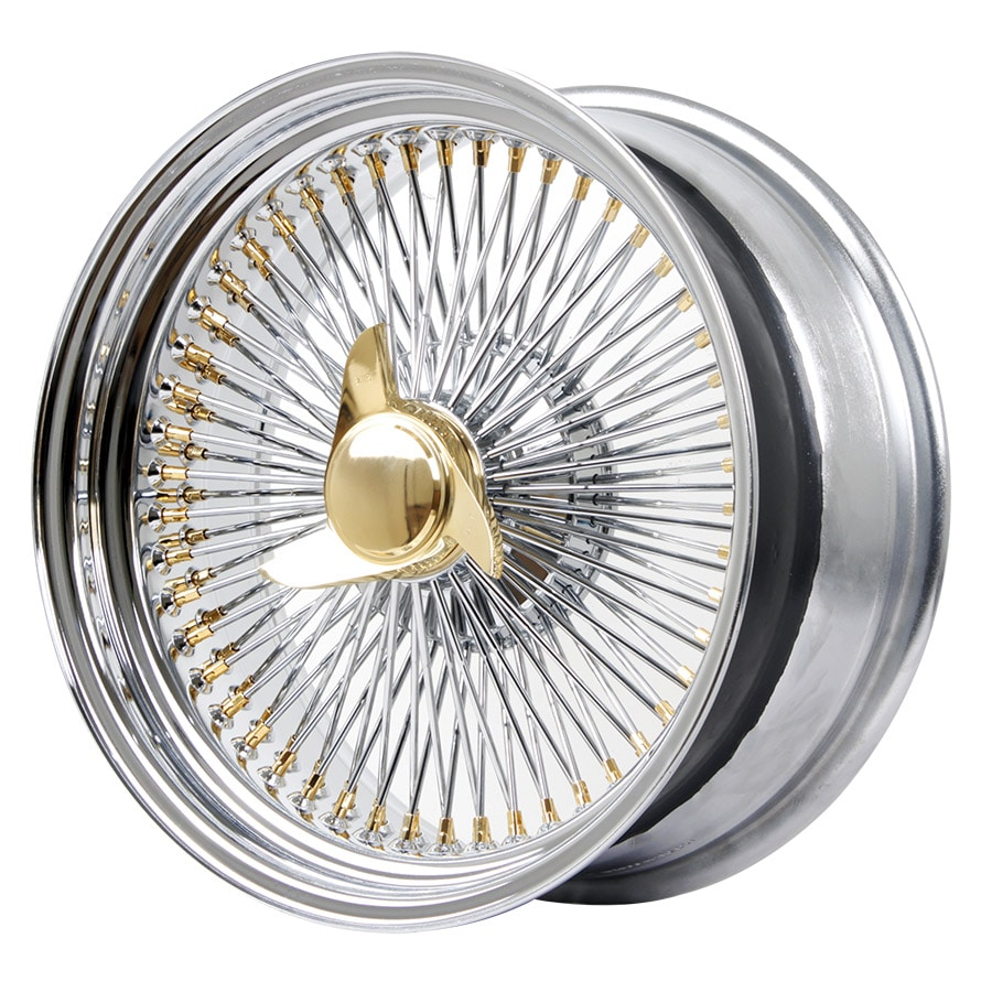 HSR Wire Wheels DS78 STD R17X8 H15X108-112-120 ET0 Chrome Gold (2)