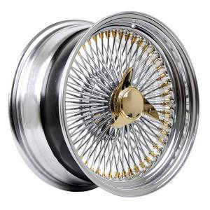 HSR Wire Wheels DS78 STD R17X8 H15X108-112-120-ET0 Chrome Gold