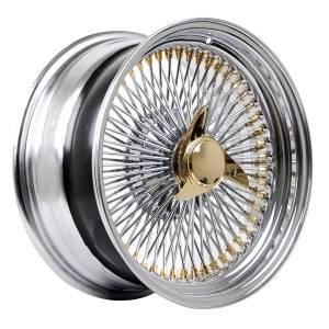 HSR Wire Wheels DS78 STD R17X8 H15X108-112-120-ET0 Chrome Gold