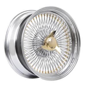 HSR Wire Wheels DS78 STD R17X8 H15X108-112-120 ET0 Chrome Gold