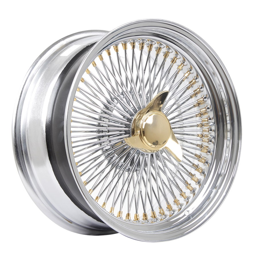 HSR Wire Wheels DS78 STD R17X8 H15X108-112-120 ET0 Chrome Gold