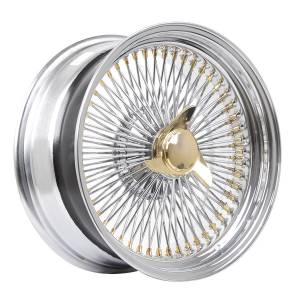 HSR Wire Wheels DS78 STD HSR 17X8 15X108-112-120 ET0 Chrome Gold1 e