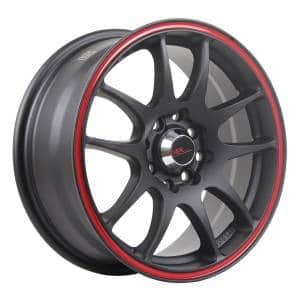 HSR Kamikaze 11033 HSR Ring 15x6,5 H8x100-114,3 ET40 Semi Matt Black Red Ring
