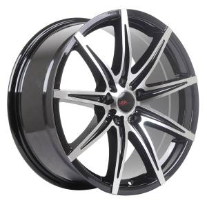 HSR Kccx JD76 Ring 18x8 H5x114,3 ET42 Gloss Black Machine Face1