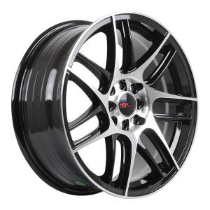 HSR Wurzburg CS 163 Ring 17x7 H8x100-114,3 ET40 Black Machine Face3