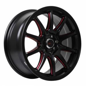 HSR Assasin JD5907 HSR Ring 16x7 H8x100-114,3 ET38 Semi Matte Black Red Milling Spoke