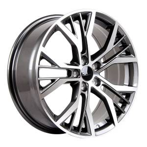HSR Boven 753 Ring 18x7,5 H5x100 ET45 Grey Machine Face