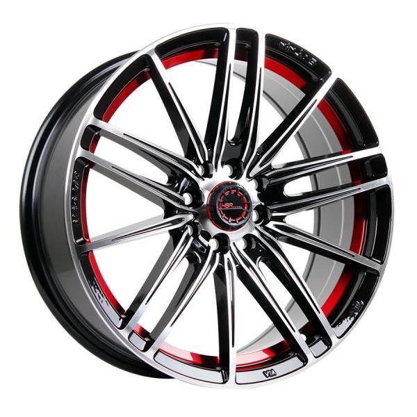 HSR Candy JD8162 Ring 17x7,5 H8x100-114,3 ET40 Black Machine Face Red Undercut