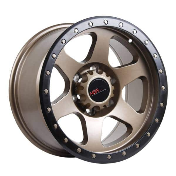HSR Crag 6001 Ring 17x9 H6x139,7 ET0 Semi Matte Bronze + Black Lips