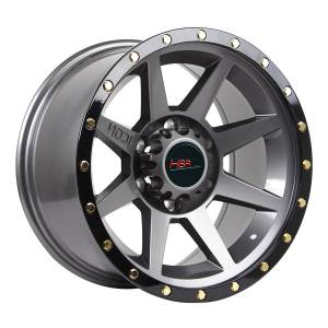 HSR Flint 8003 Ring 17x9 H6x139,7 ET0 Grey Oil + Black Lips