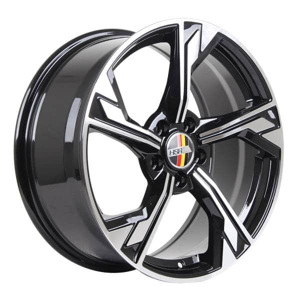 HSR Fluttershy AU5375 Ring 18x8 H5x112 ET40 Black Machine Face
