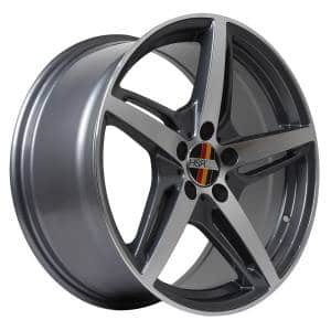 HSR Funf AM5359 HSR Ring 18x8,5-9,5 H5x112 ET45 Grey Machine Face