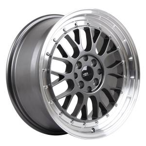 HSR Lemans 306 Ring 17x7,5 H8x100-114,3 ET35 Grey Machine Lip