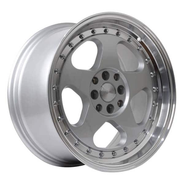 HSR Loud JD805 HSR Ring 17x7,5-8,5 H8x100-114,3 ET45-35 Silver Machine Lip