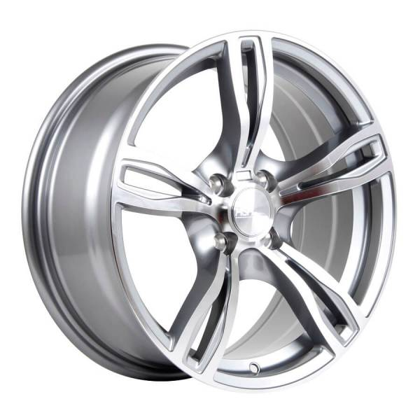 HSR Mezut H266 Ring 16x7 H4x100 ET35 Grey Machine Face