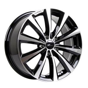 HSR Monaco 1014 Ring 17x7,5 H5x114,3 ET45 Black Machine Face