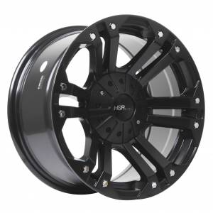 HSR Mongo JT6048 HSR Ring 16x8 H6x139,7 ET0 Semi Matte Black Chrome Rivets