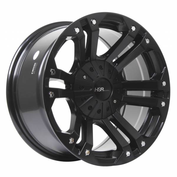 HSR Mongo JT6048 HSR Ring 17x9 H6x139,7 ET20 Semi Matte Black Chrome Rivets