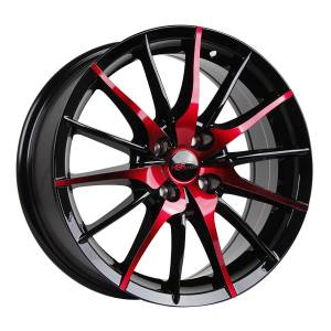 HSR Nemo H354 Ring 16x7 H4x100 ET39 Black+Red Coating