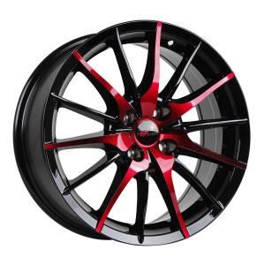 HSR Nemo H354 Ring 16x7 H4x100 ET39 Black+Red Coating