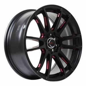 HSR Noshiro 57E JD5619 HSR Ring 15x6,5 H8x100-114,3 ET38 Semi Matte Black Red Milling Spoke