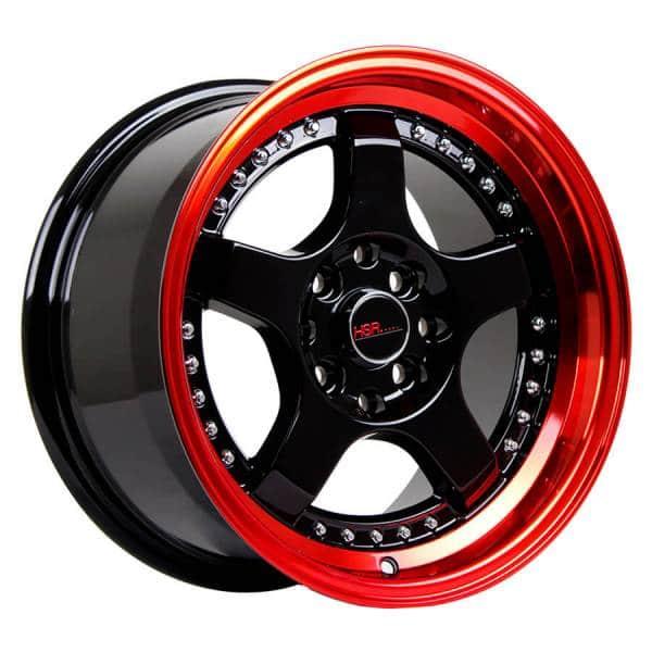 HSR SC 02 1120 Ring 16X8-9 H8X100-114,3 ET30-25 Black Red Lips