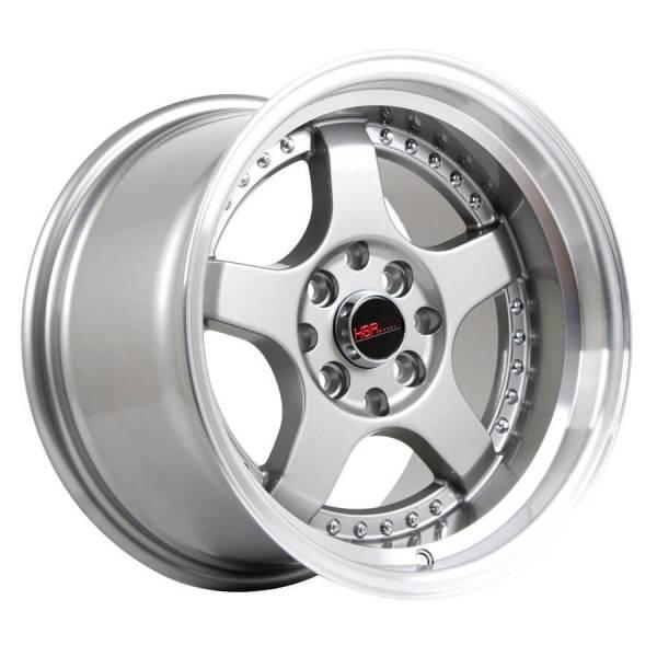 HSR SC 02 5131 Ring 15X8-9 H8X100-114,3 ET30-25-Grey Machine Lips