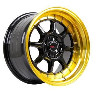 HSR SC 03 8003 Ring 16X8-9 H8X100-114,3 ET30-25 Black Gold Lips