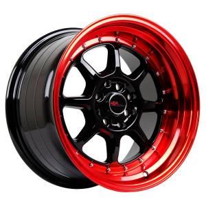 HSR SC 03 8003 Ring 16X8-9 H8X100-114,3 ET30-25 Black-Red-Lips