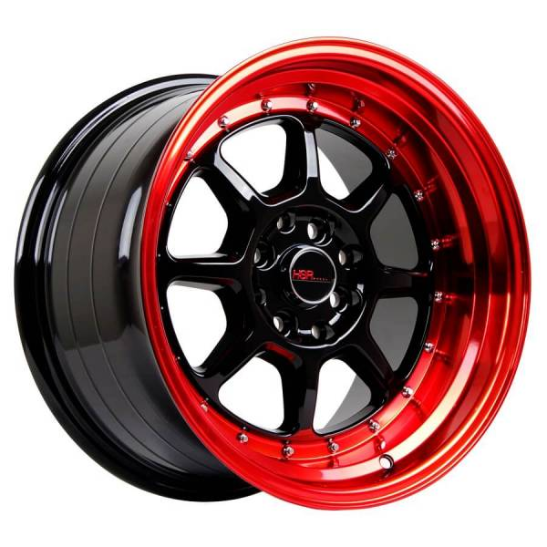 HSR SC 03 8003 Ring 16X8-9 H8X100-114,3 ET30-25 Black-Red-Lips