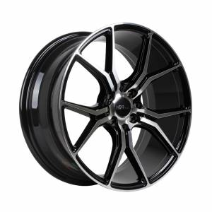 HSR Voodoo H59783 R17X75 H8X100-1143 ET40 Black Machine Face