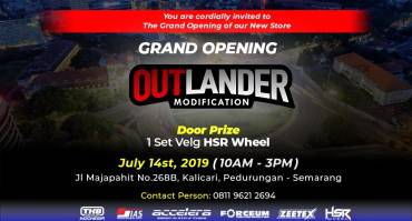 Grand Opening TKB Cabang Semarang, Outlander Modification