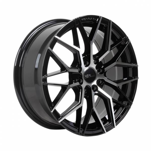 HSR Botawa 7236 R15X6,5 H8X100-114,3 ET45 Black Machine Face