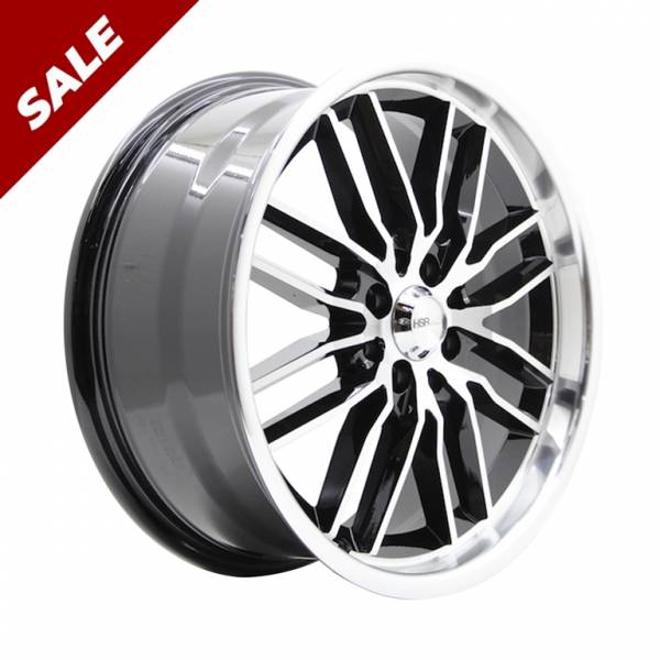 HSR Ele17 JD839 Ring 17x7,5 H8x100-114,3 ET45 Black Machine Face