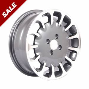 HSR Kuman 179 Ring 15x6 H4x100 ET40 Grey Machine Face