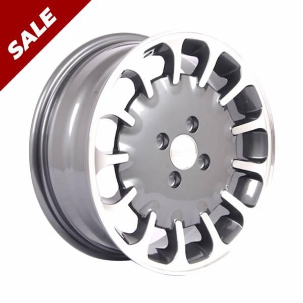 HSR Kuman 179 Ring 15x6 H4x100 ET40 Grey Machine Face