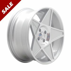 HSR Magical JD544 R17X8 H4X100 ET30 Silver Machine Face