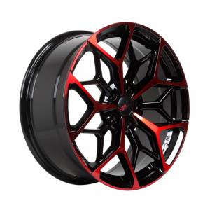 HSR Myth01 R18X8 H5X114,3 ET45 Black Machine Face+Red Coating