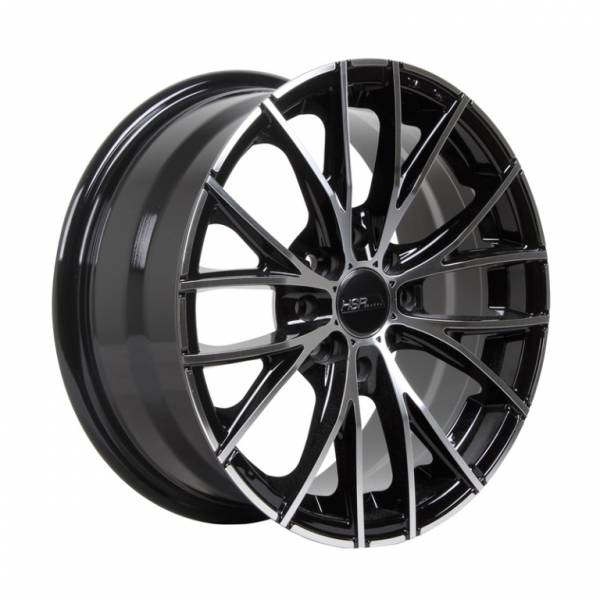 HSR Naples 12283 R15X6,5 H8X100-114,3 ET38 Black Machine Face