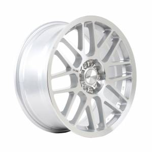 HSR RAI-S1 Ring 17X7.5 H10X100-114,3 ET40 Silver Machine Face + Black Word