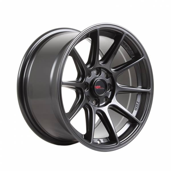 HSR Shinjuku JD7060 Ring 15x8 H8x100-114,3 ET 30 Semi Matte Black