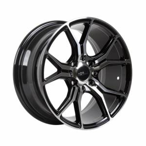 HSR Voodoo 59783 R15X7 H8X100-114,3 ET35 Black Machine Face