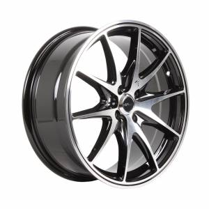 HSR Melingge H11233 Ring 17x7 H4x100 ET40 Black Machine Face