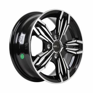 HSR Merkin H5287D Ring 14x5,5 H4x100 ET38 Black Machine Face