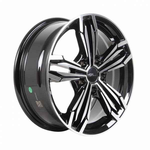 HSR Merkin H52973 Ring 16x6,5 H5x114,3 ET35 Black Machine Face