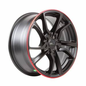 HSR Misato HD008 Ring 16x7 H8x100-114,3 ET40 Semi Matte Black Red Lips