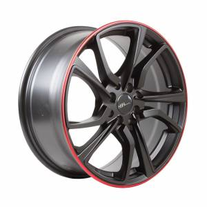 HSR Misato HD008 Ring 17x7,5 H8x100-114,3 ET42 Semi Matte Black Red Lips