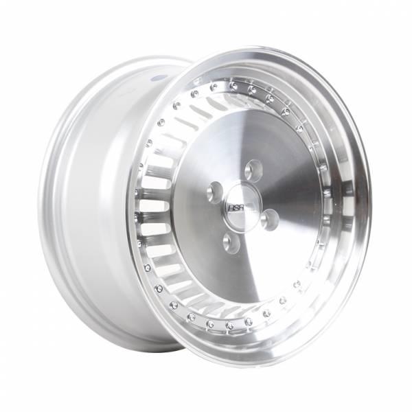 HSR Sasebo H475 Ring 15x7-8 H4x100 ET25-35 Silver Machine Lips