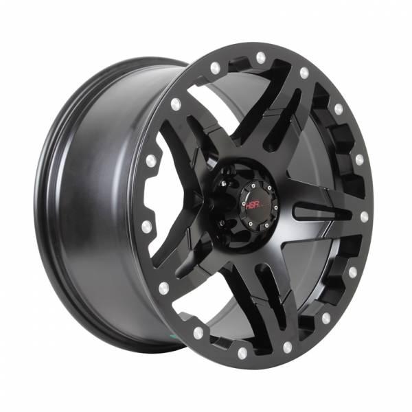 HSR Woha 5266 Ring 18x9 H5x114,3 ET35 Semi Matte Black+Milled rivets