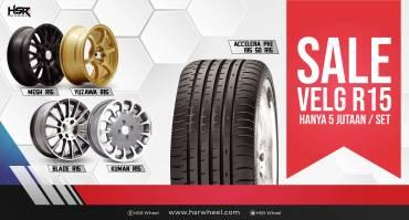 Sale Velg HSR Wheel Ring 15, 1 Set Cuma 5 Jutaan!